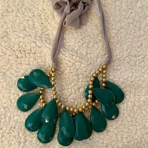 Teal Costume Jewelry Necklace